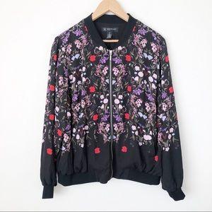 INC International Concepts Floral Bomber Jacket